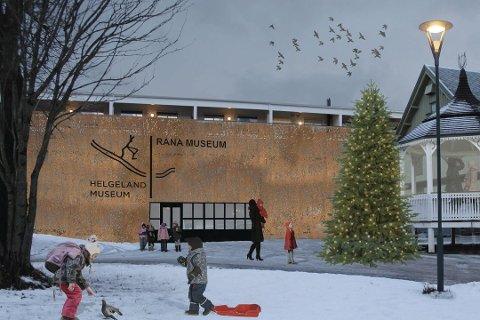 Slik kan Helgeland Museum avdeling Rana på Fjordsenteret bli seende ut.Foto: Tegneverket Arkitekter AS