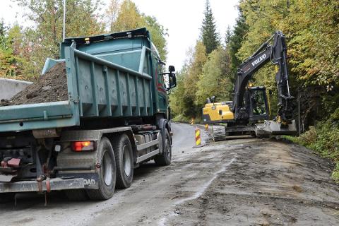 Det blir mye arbeid på kommunale veier i Hemnes til høsten.