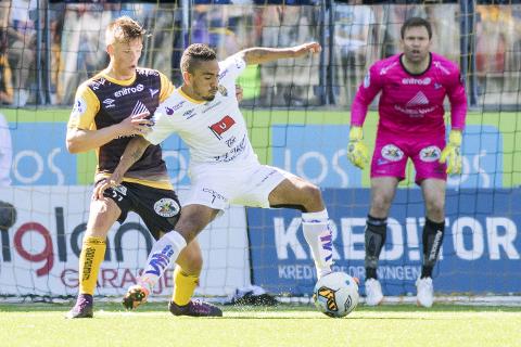 Ulrik Reinaldo Berglann, her i aksjon for Jerv, har nå signert for Lyn i 3. divisjon. Foto: Tor Erik Schrøder