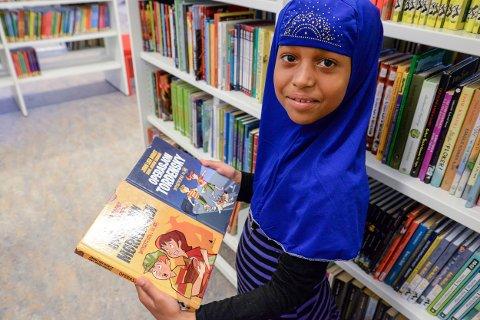 Maryam Sayed Nourahmed Adam (8) liker detektivbøkene til Jørn Lier Horst  best.