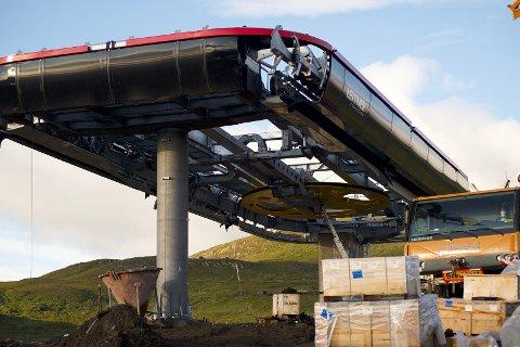 Gondolen som er under bygging i Hemavan åpnes i månedsskiftet november/desember.