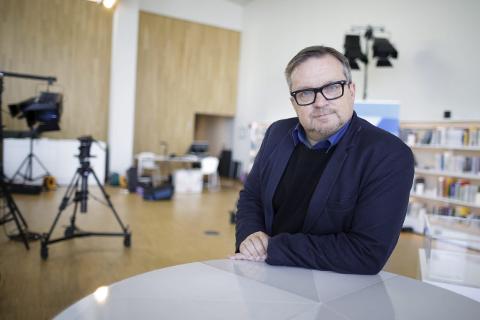 Stiller opp: Kommentator Stein Sneve fra Avisa Nordland stiller opp sammen med Eivind Undum Jacobsen fra NRK Nordland.