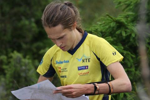 Yngve Skogstad i aksjon i NM langdistanse i Halden sist uke. Foto: Erik Borg