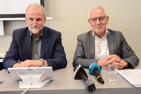 Konstituert administrerende direktør Fred A. Mürer og styreleder Frode Mellemvik i Helgelandssykehuset.
