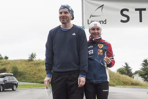 VANT: Ole Gilberg og Marthe Kråkstad Johansen vant Lovundmila i fjor.