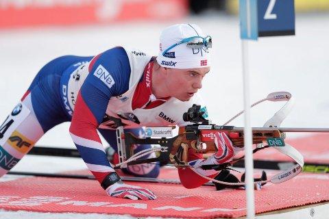 I FORM: Fredrik Gjesbakk beholder storformen og leverte på lørdagens sprint i IBU-cupen i tyske Arber.