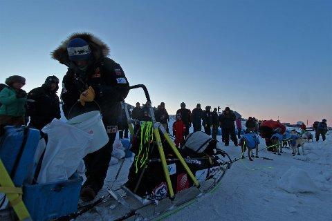 Joar Leifseth Ulsom kjørte inn til andreplass i Kuskokwim 300. Bildet er fra Iditarod i fjor.