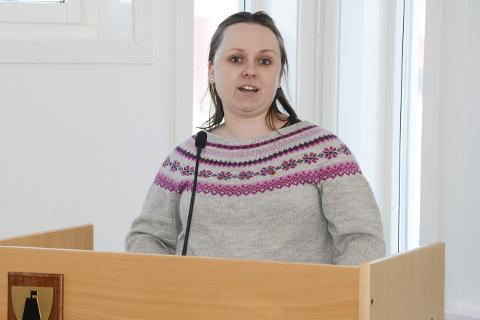 Leder Nina Bentzen i Lurøy Sp.