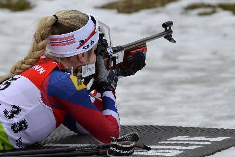 Emilie Ågheim Kalkenberg startet som nummer 61 i sin verdenscupdebut i Oberhof.