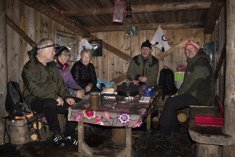 Jan Andersen, Brita Nilsen, Sigrun Olsen, Alf Erling Olsen og Kjell Hansen.