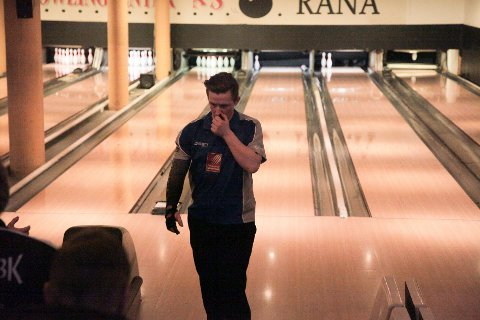 Marius Kvitnes og de andre spillerne på Rana bowlingklubb skuffet i helgas hjemmekamper.