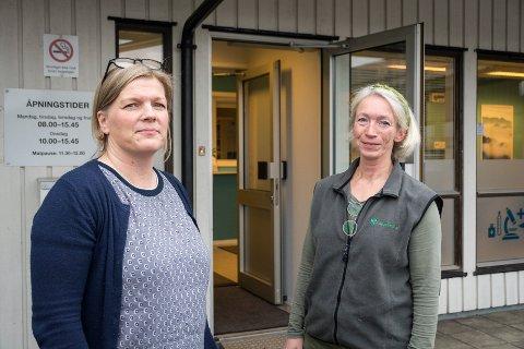 Sykehjemslegene Ingrid Eiterå og Anette Fosse er bekymret for tilbudet sykehjemmene kan gi de eldre hvis det kommer nye budjsettkutt. Allerede ser de at erfarne sykepleiere slutter.