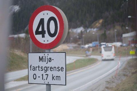 Miljøfartsgrensen er tilbake på E6 gjennom Svortdalen.