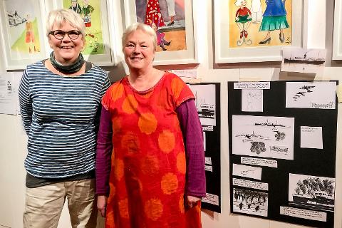Barnebokforfattere: Valva Gisladottir (64) og Kim Astrup (62) er godt igang med barnebok nummer to om Katinka som vokste opp på Hemnesberget.