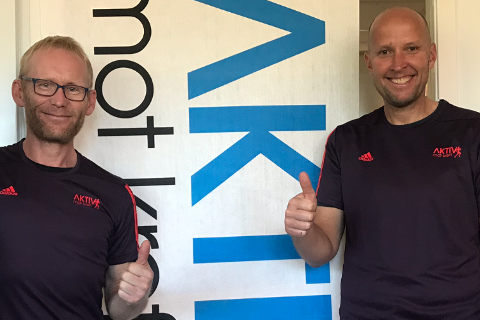 REKORDFORSØK: Rana-syklistene  Bjørn-Einar Nesengmo (t.v.) og Frode Thomassen står bak sykkelprosjektet Tandemrekord for Pusterom i Nord.