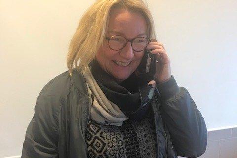 Marit Tennfjord (bildet) overbringer budskapet til Grete Lian.