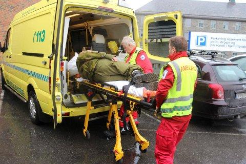 Bildet er tatt i forbindelse med en øvelse på Helgelandssykehuset i Sandnessjøen.