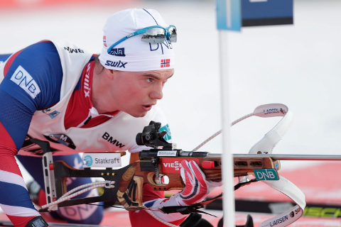 Fredrik Gjesbakk fikk totalt seks bom på ti skudd i sprinten i IBU-cup i Idre.