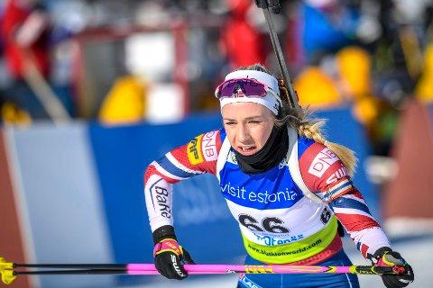 Emilie Ågheim Kalkenberg ble nummer 52 på sprinten i Pokljuka.