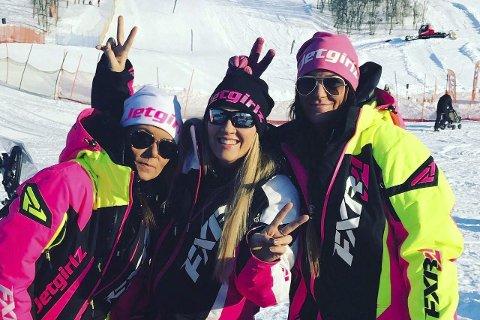Jetgirlz: Anna Strandgren utgjør Jetgirlz sammen med Sara Sundquist og Lind-Mari Bystrøm. De arrangerer fiskekonkurranse på påskeaften. Foto: Privat