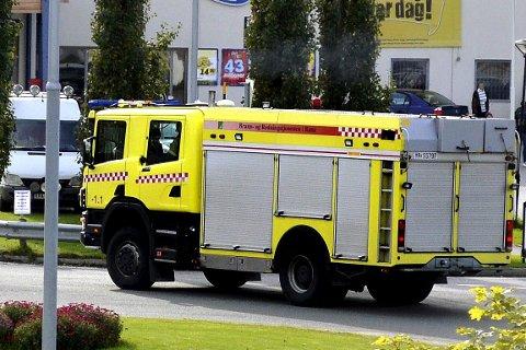 Utrykning brannvesenet brann- og redningstjenesten.