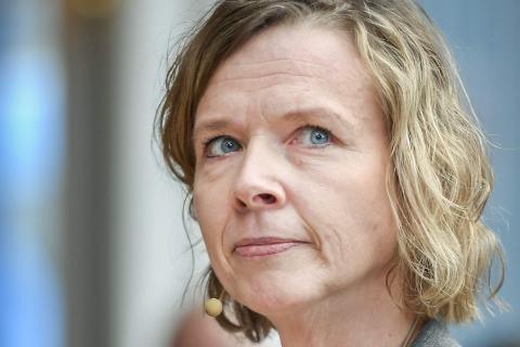 FRAMTIDA: Administrerende direktør i Helgeland Sparebank, Hanne J. Nordgaard, forteller at overskuddet forteller en god historie om bankens posisjon som lokalbank.