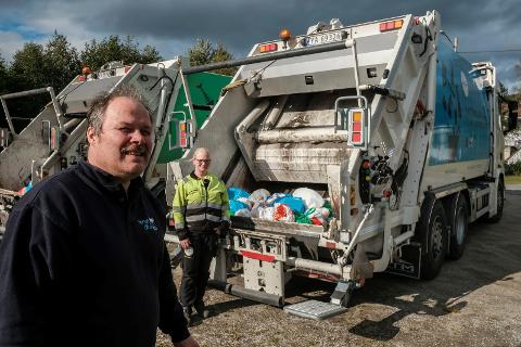 Daglig leder Geir Lillevik i Geir Lillevik Transport AS henter normalt søpla for HAF i kystkommunene. For at ikke søpla skulle hope seg opp i Rana etter RenoNorden-konkursen tok han og hans ansatte noen ekstrarunder i boområdene i Rana. I bakgrunnen sjåfør Nina Engstrøm