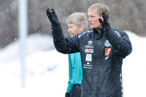 FRUSTRERT: Mo IL-trener, Kjell Magne Bang.