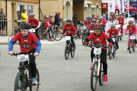 Tilbake i sentrum: Tirsdag blir det sykkelfest når Tour of Norway for kids kommer til Mo. Foto: Stian Forland