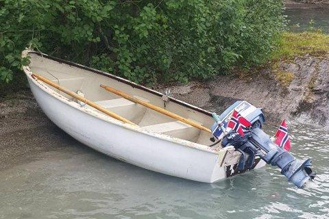 Denne båten ble funnet på Langvatnet av Statkraft