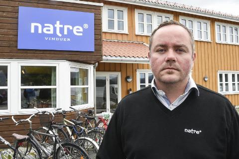 En svikt i markedet for våre vinduer er årsaken til at vi måtte si opp ni ansatte, sier produksjonsdirektør Jan Marius Reppe i Natre Vinduer.