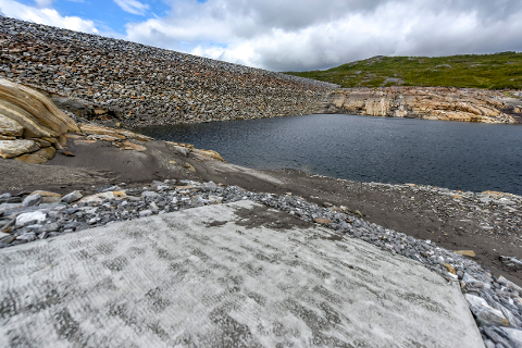 Kalvatndammen ved Revet fotografert tidligere i sommer.