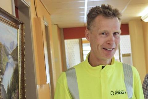 Adm. dir. i Helgeland Kraft, Eivind Mikalsen, er fornøyd med resultatet i første halvår.