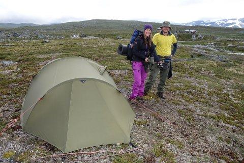 Det er fine forhold for teltliv ved Blereken. Under Til Toppsturen til Nye Blerekbu i 2016 valgte Christina Storvoll Moen og Jørgen Moen å gjøre dagsturen til helgetur med teltliv.