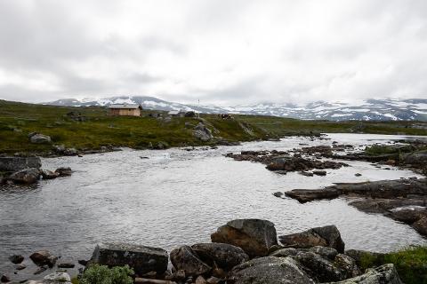 Nye Blerekbu ligger idyllisk til ved innløpet til Steintjønna.