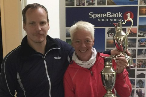 GolfVINNERE: Richard Kvitvær og Gry Eriksen.