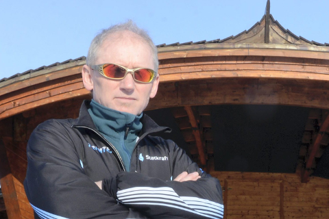 Svartebukta: Otto Jonny Derås  i Parkrock her foran scenen i familieparken.foto: arne forbord