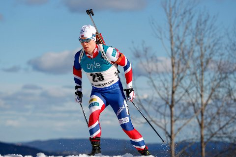 Fredrik Gjesbakk gikk inn til fjerdeplass i dagens sprintrenn i IBU-cupen - og ble med det fjerde beste nordmann! Foto: Heiko Junge / NTB scanpix