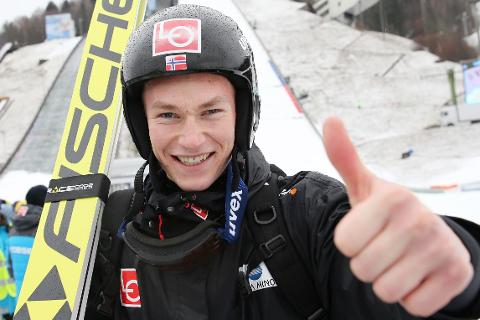 Robin Pedersen er veldig fornøyd med andreplassen i det siste rennet i COC-cupen i Sapporo