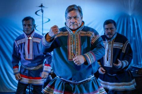 Joiken er en viktig del av samekulturens identitet. F.v. på bildet Iŋgor Ántte Áilu Gaup (Áilloš), Egil Keskitalo og Nils Henrik Buljo