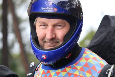AKTIV: Ole Jonny konkurrerer normalt for Polarsirkelen Hang- og papragliderklubb.