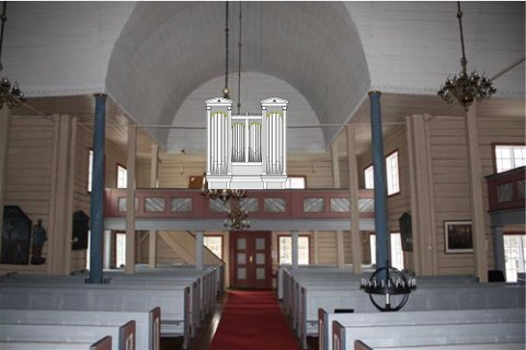 Slik ser man for seg at orgelet vil se ut etter oppgraderingen.