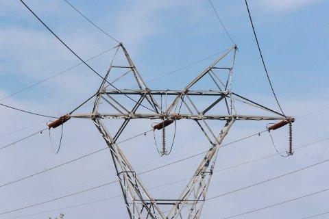 Oslo  20180520. Illustrasjonsbilde på strøm, høyspentmast, energi, energipriser, strømpriser, strømkabel. Foto: Terje Pedersen / NTB scanpix