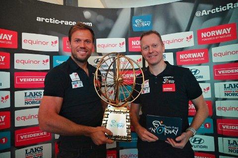 Thor Hushovd og Knut-Eirik Dybdal presenterte Arctic Race-etappene for 2020 under Agenda Nord-Norge i Tromsø tirsdag.