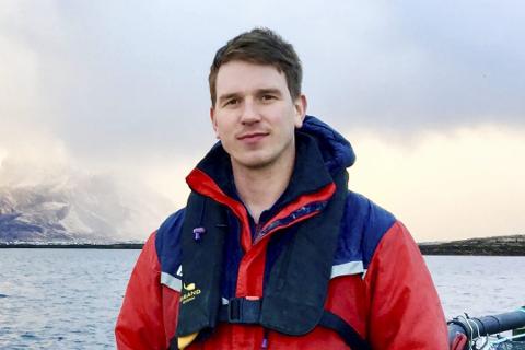 Jacob Meland, daglig leder i Lovundlaks AS.