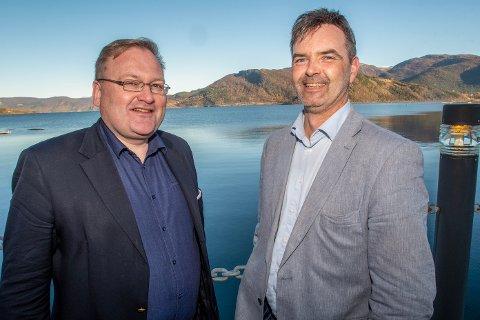 Roger Øksheim og Christian Ravnå er klare til å etablere en ny forretningsbank med base i Bodø og Bergen – og adresse i Rognan - Nordbank.