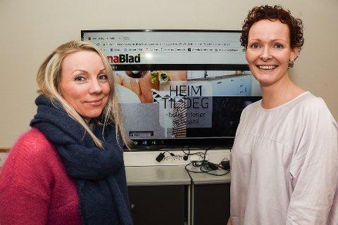 """- Vi synes det er stas å tilby ranværingene et nytt gratis digitalt interiørmagasin som heter """"Heim til deg"""", sier medierådgiver Else Johansen og strategisk medierådgiver Cecilie Nordvik i markedsavdelingen til Rana Blad."""