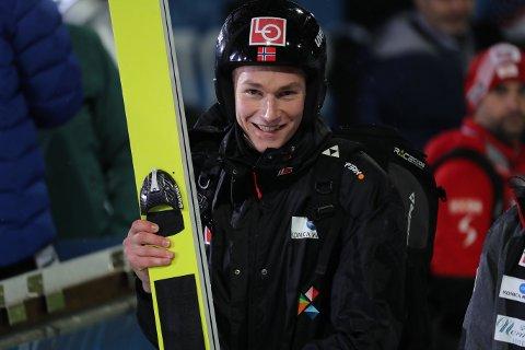 Robin Pedersen hoppet 232,5 meter på trening i Planica. Foto: Geir Olsen / NTB scanpix