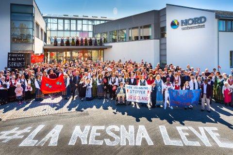 På Nesna er kampviljen stor for å få beholde studiestedet.