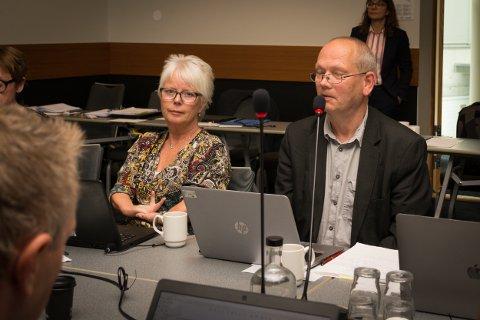 Lisbeth Flatraaker på styremøtet i Nord universitet.